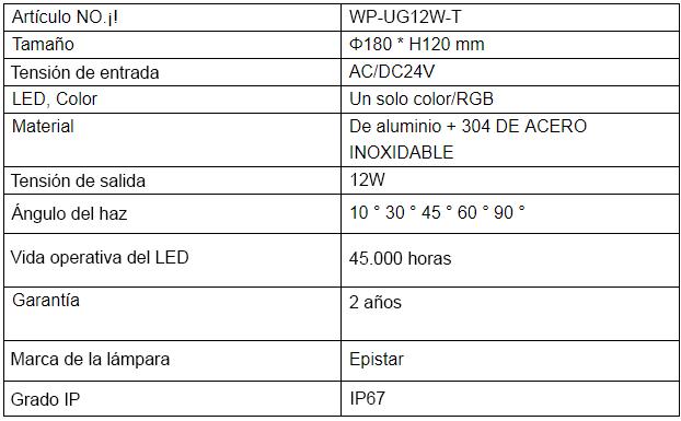 WP-UG12W-T